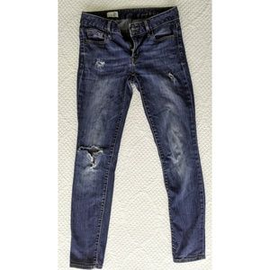 Gap Always Skinny Distressed Medium Wash Jeans Sz